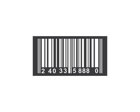 barcode vector icon illustration design template