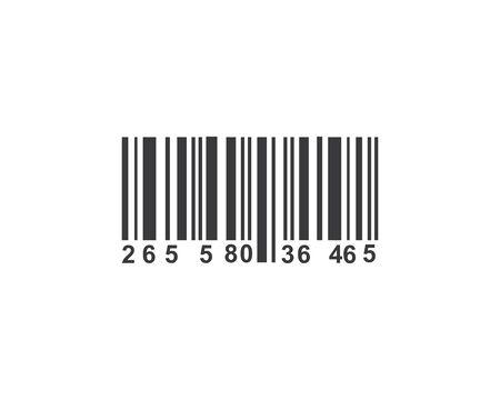 Barcode-Vektor-Symbol Illustration Design-Vorlage