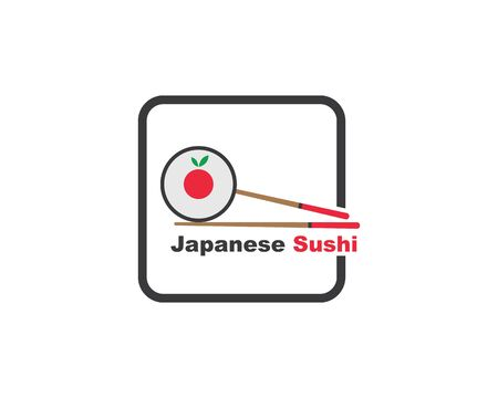 sushi vector icon label illustration design template