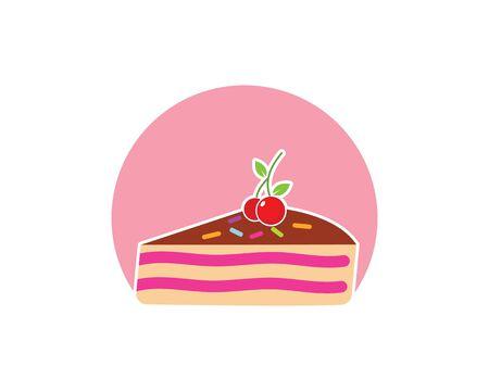 Modello di illustrazione vettoriale logo torta