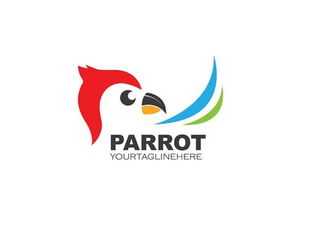 parrot illustration vector icon design template