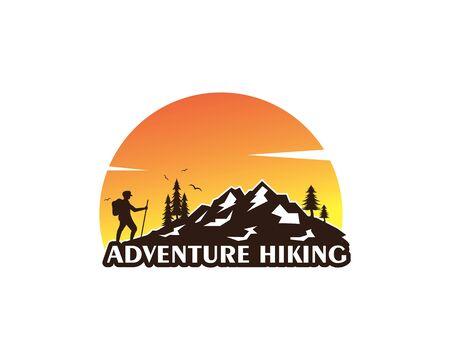 adventure hiking vector icon illustration design template 矢量图像