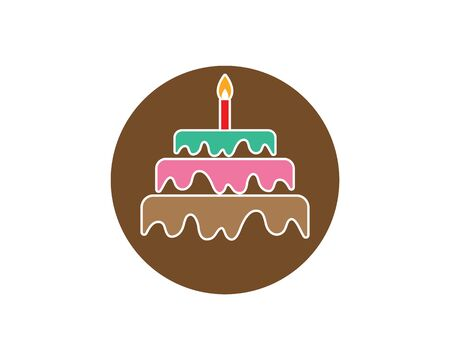 Cake logo vector ilustration template