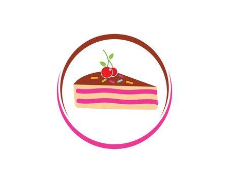 Plantilla de ilustración de vector de logo de pastel