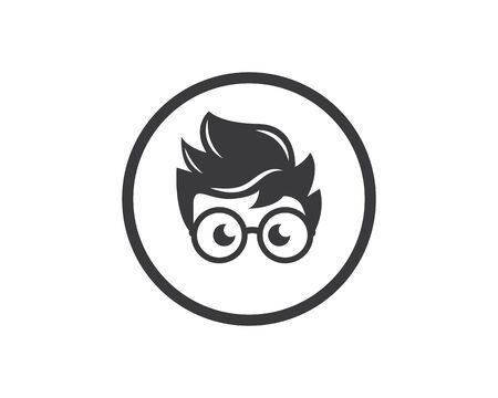 geek boy icon vector illustration design template