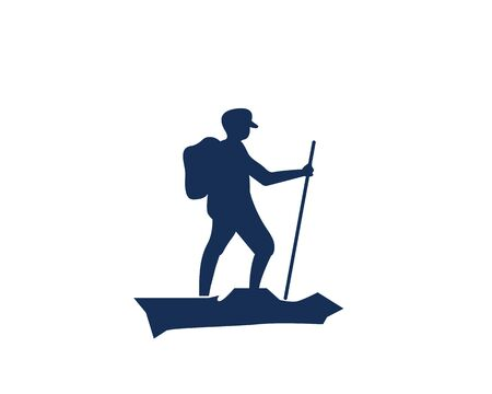 adventure hiking vector icon illustration design template Ilustração