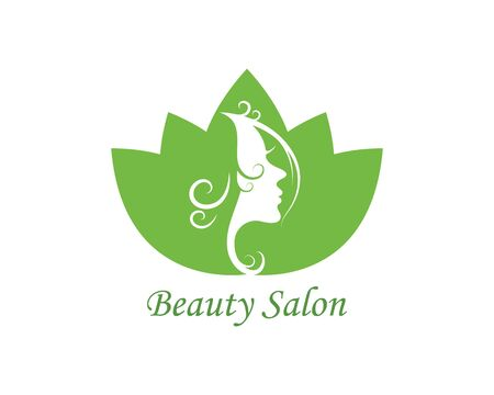 beauty face woman with leaves vector icon illustration design Archivio Fotografico - 137256248