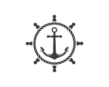 nautical vector logo icon of maritime illustration design