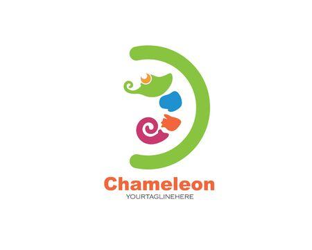 chameleon vector icon logo illustration design template Ilustrace