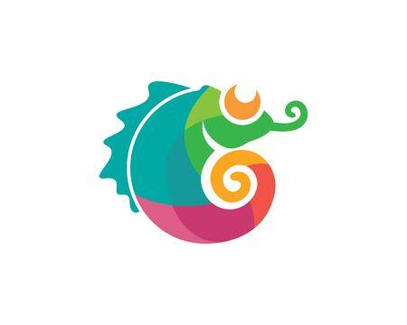 caméléon vecteur icône logo illustration modèle de conception Logo