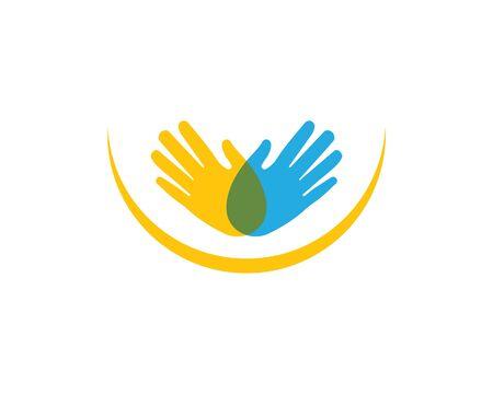 Hand vector icon illustration design template Ilustração