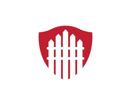 fence icon logo vector illustration design template