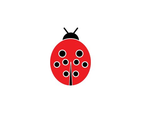 ladybug vector icon illustration design template Ilustracja