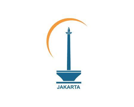 indonesian menument icon vector illustration design template Çizim