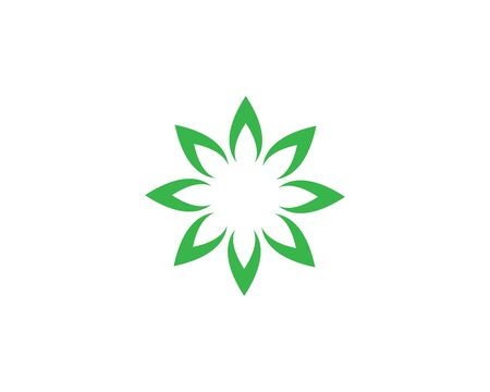 green leaf ecology nature element background vector icon of go green design