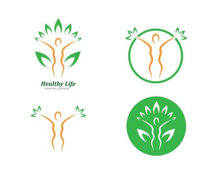 woman character  with leaves vector icon illustration design Ilustrace