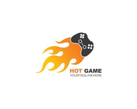 video game controller logo icon vector illustration design Ilustrace
