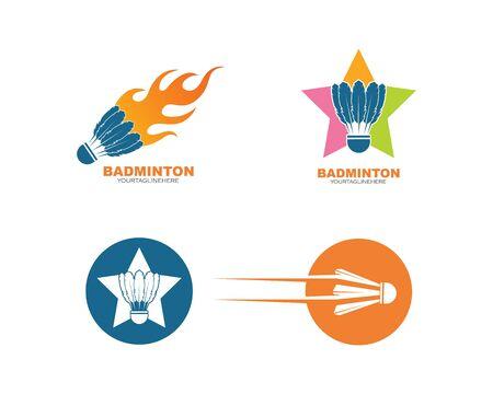 shuttlecock vector icon logo illustration design template