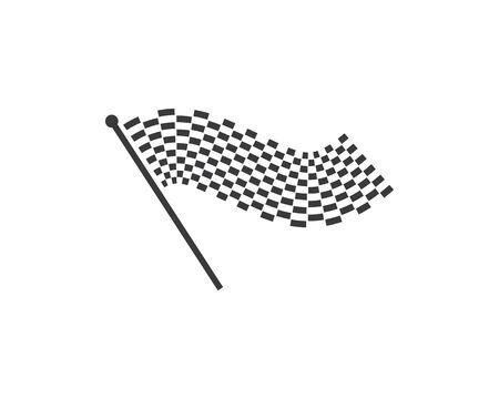 Rennflaggensymbol der Automotiv-Illustrationsvektorvorlage Vektorgrafik