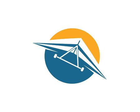 hang gliding icon vector illustration design template