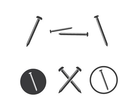 metal nail vector illustration design template