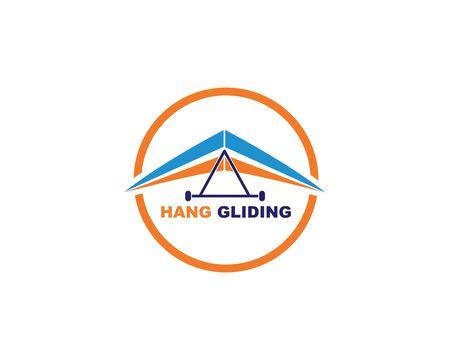hang gliding icon vector illustration design template