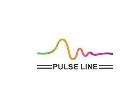 pulse line,equaizer and sound effect ilustration logo vector icon template