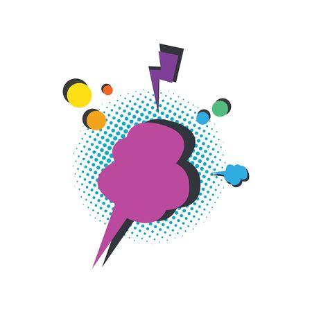 blank comic speech bubble art vector illustration design