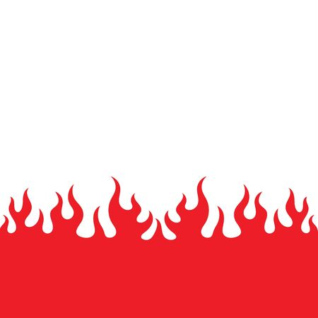 Fire flame Logo icon vector illustration design template 向量圖像