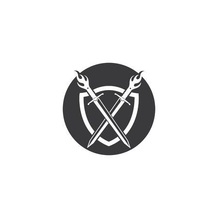 sword logo icon vector illustration design template
