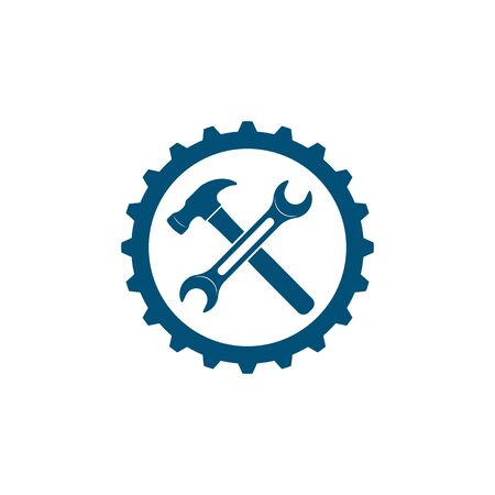 wrench vector illustration and icon of automotive repair  design Ilustração