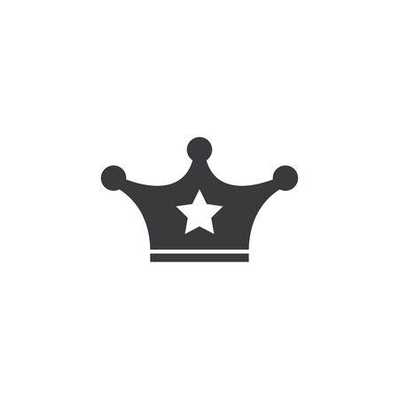 royal crown logo icon vector illustration design Ilustrace