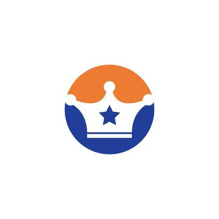 royal crown logo icon vector illustration design Ilustração