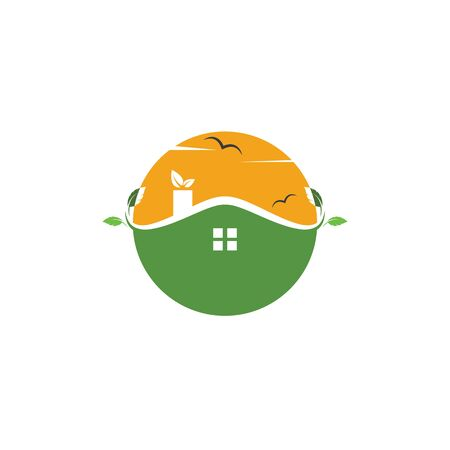 green house logo vector illustration template Illustration