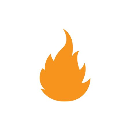Fire flame Logo icon vector illustration design template Ilustracja