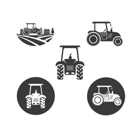 tractor farmer icon vector illustration design template Ilustração Vetorial