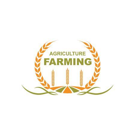 agriculture farm icon logo vector design Logo