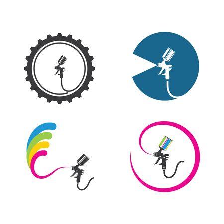 spraygun vector icon illustration design template