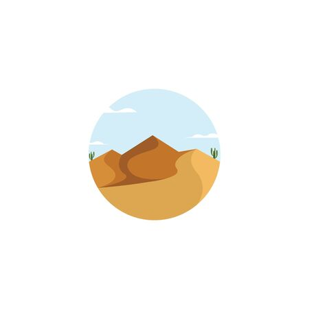 landscape desert vector illustration design 向量圖像