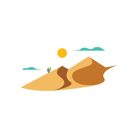 landscape desert vector illustration design Иллюстрация