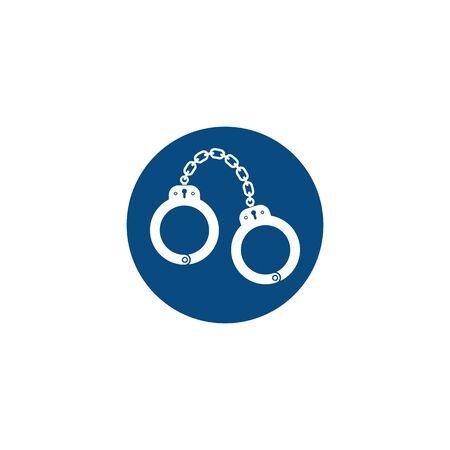 handcuff vector icon illustration design template