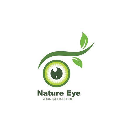 nature  eye icon Logo vector Template illustration design