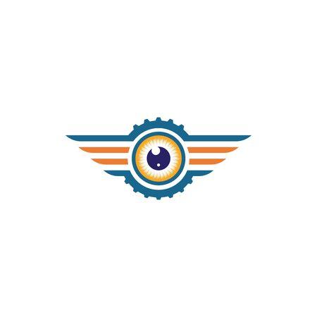 optical eye icon Logo vector Template illustration design