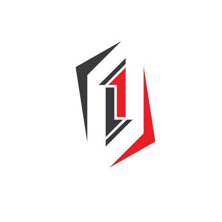l,i letter logo business vector template