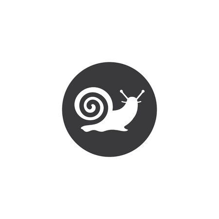 snail vector illustration design template