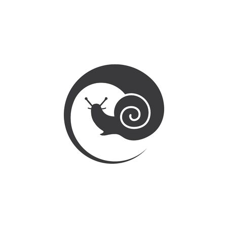 snail vector illustration design template