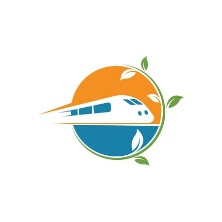 eco trains vector illustration design template