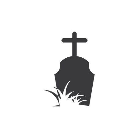 gravestone vector illustration design template 写真素材 - 143430348