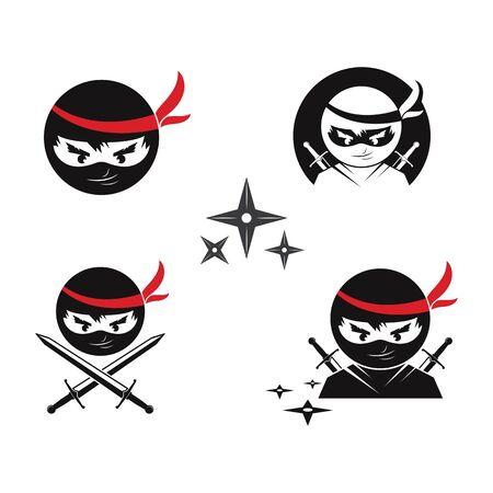 ninja vector icon illustration design template