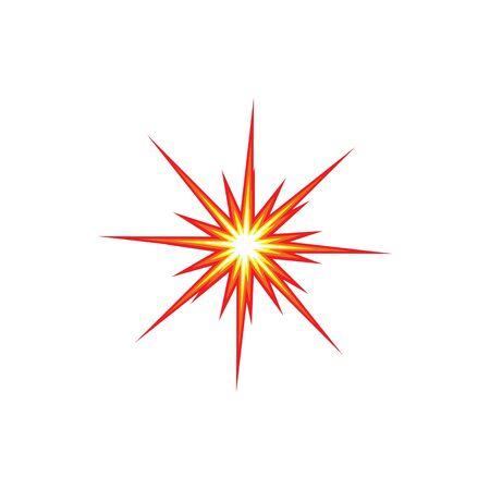 boom explosion icon vector illustration design